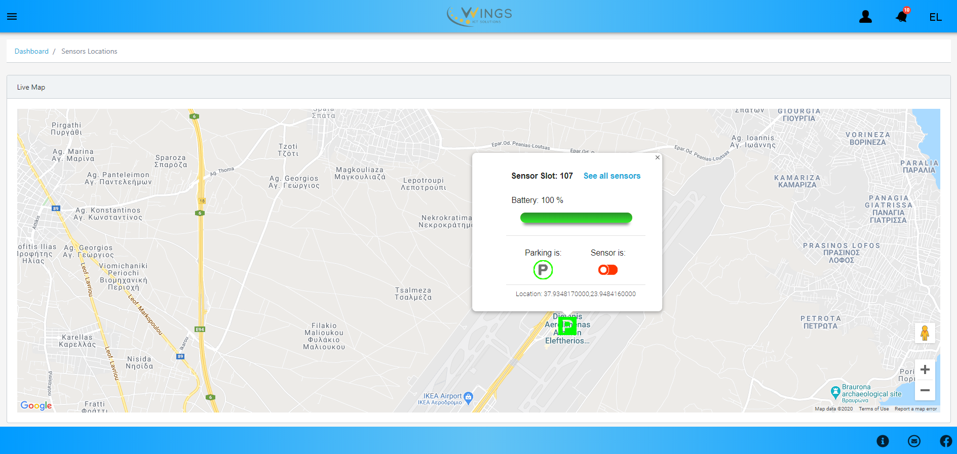 WINGSPARK – a new, simple and secure platform for easy parking (in AIA) powered by 5G / advanced wireless systems