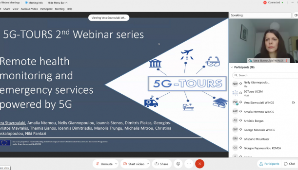 """Participation in the webinar """"Remote health monitoring and emergency services powered by 5G"""""""